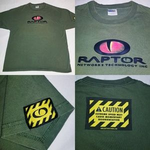 Vintage Raptor Networks Technology Dinosaur eye XL